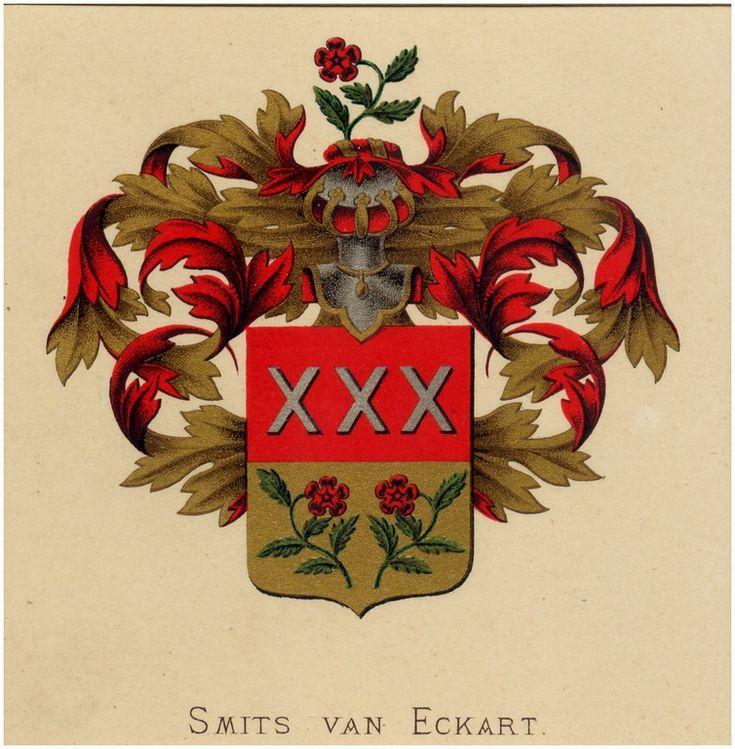 Familiewapen van het geslacht Smits van Eckart 1881