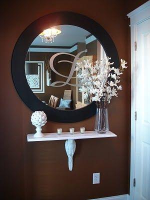 DIY wall decor...Love this mirror!