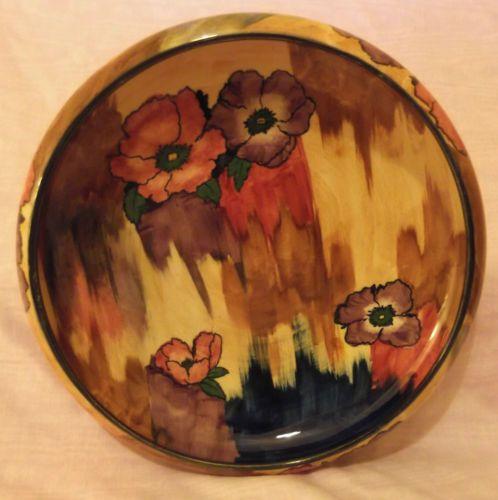H & K Tunstall Art Deco Fruit Bowl, Viola Pattern