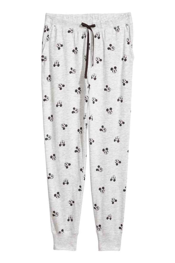 Pyjamabroek - Lichtgrijs/Mickey Mouse - DAMES | H&M NL