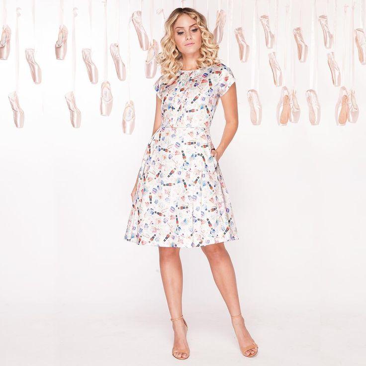 """O vestido """" fada açucarada"""" tem na  estampa o ícone da coleção! O quebra nozes Disponível em todas as lojas e no site!"""