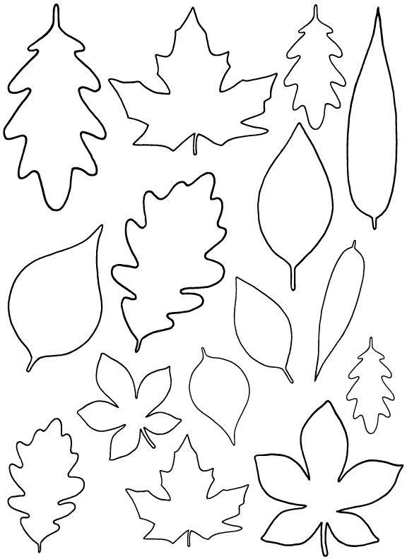 Herbstinspirationen - Blätter zum Ausdrucken und bemalen *** Free Leaf Template - Great Autumn DIY idea