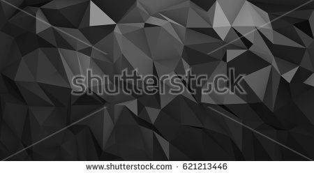 Black abstract geometric, low poly style vector illustration graphic background