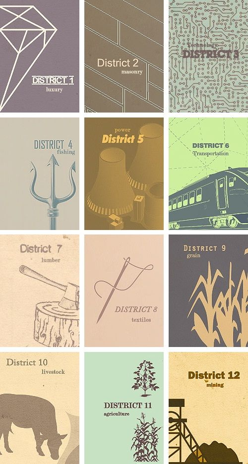 hunger games districts. have you realized that we are prolly in district 12? kentucky and surrouNdiNg areas: coal!!!