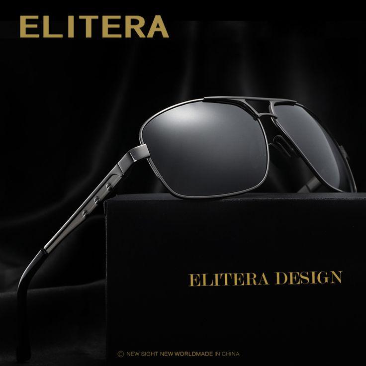 ELITERA Brand Designer Fashion Sunglasses Men Polarized Sun Glasses Mens Sunglasses Brand Designer Oculos De Sol E200