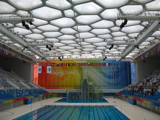 Terminate le Olimpiadi, il Water Cube di Pechino è stato riconvertito in parco acquatico. All'interno ci sono varie attrazioni per adulti e bambini,  tra cui scivoli, piscine con le onde, cascate. Per info: www.waterpark-watercube.com (foto: Flickr/Paula Soler-Moya)