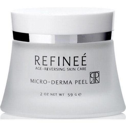 Refinee Micro-Derma Peel by Refinee. $45.99. Brightens. Smoothes. Tones. Age-reversing Skincare. Refinee Micro-Derma Peel is a super strength exfoliant for all skin types except sensitive skin. Diminish discolorations, deep clean pores, and brighten your skin in just one treatment. Micro-crystals slough off dead skin layers and sweep away roughness that shows up as fine lines and dullness. Refinee Micro-Derma Peel helps stimulate skin's renewal process while nourishing and ...