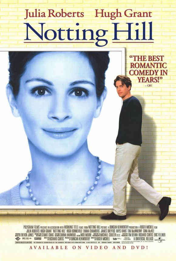 Notting Hill 27x40 Movie Poster (1998)  Anna Scott Ohh no big thing just my mom's name  No biggie though No really