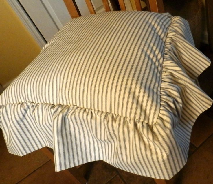 Chair seat cover tucked ruffle edge with bow ties