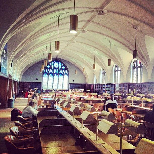 """Sunshine in Harry Potter library #queensu"" Photo: @klimh"