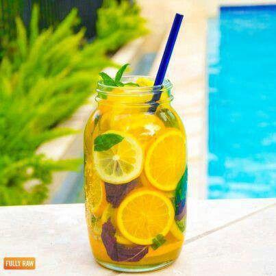 Vitamin infused fully raw lemonade