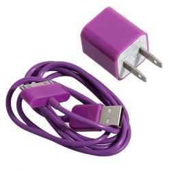 iPhone charger.. $3.00 and they have every color. Cool website for iphone accessories! Cheap! @Brandi Wilson
