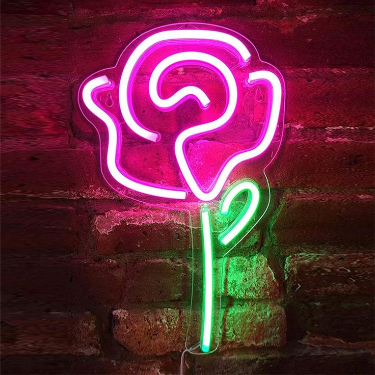 Description Turn any room into an instant vibe with a one-of-a-kind neon sign that's as unique as you. Sign Size: 22x44x1.4cm / 8.7x17.3x0.55inch Shipping & Returns ✅ 30-Day No Questions Asked Return Policy 🚚 Delivery Time: 10-14 Business Days 🎉 Free shipping with orders over $100+ Features ✔️ High Quality: Crafted out of flexible, yet extremely durable LED tubing and shatter-proof acrylic backing, these signs are virtually indestructible. 💡 Energy Efficient: Our neon signs are manufactur Neon Light Signs, Led Neon Signs, Neon Led, Novelty Lighting, Pink Rose Flower, Acrylic Panels, Decoration Originale, Lumiere Led, Sign Lighting