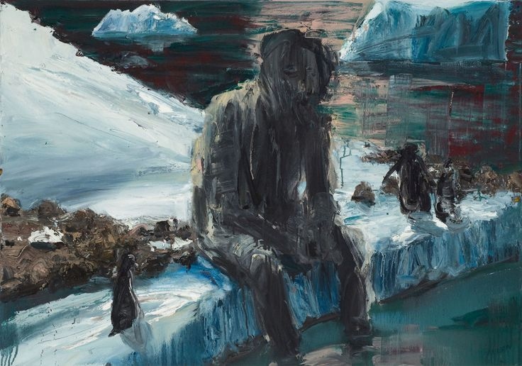 Euan Macleod Sitting with Penguins 2010