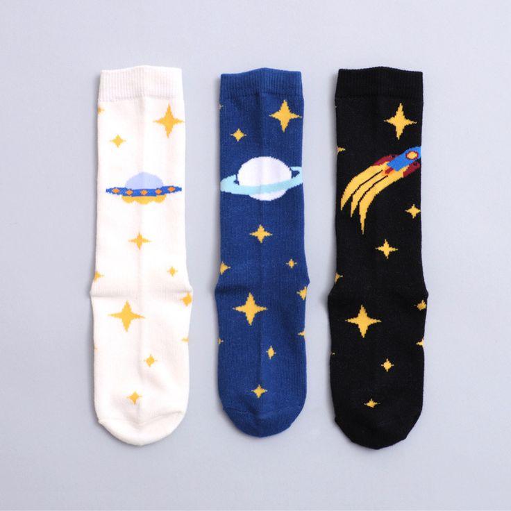 Kids Funny Planet Socks