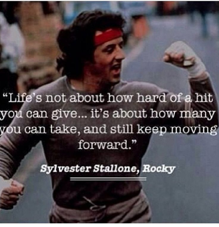 Rocky Balboa Life Is Hard Quote: Life's Not About How Hard Of A Hit You Can Give... It's