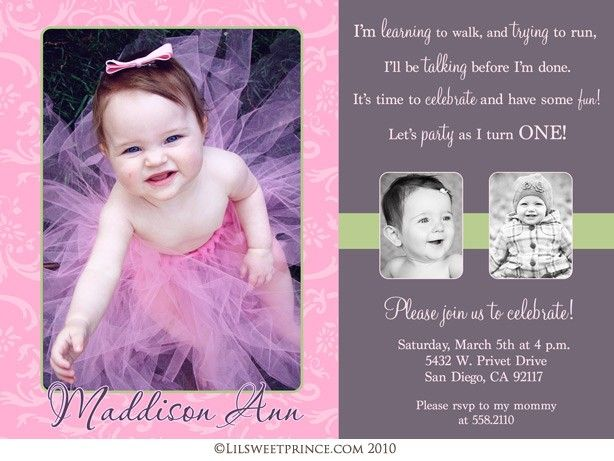 1st birthday girl themes 1st birthday girls invitations baby girlu0027s first birthday themed