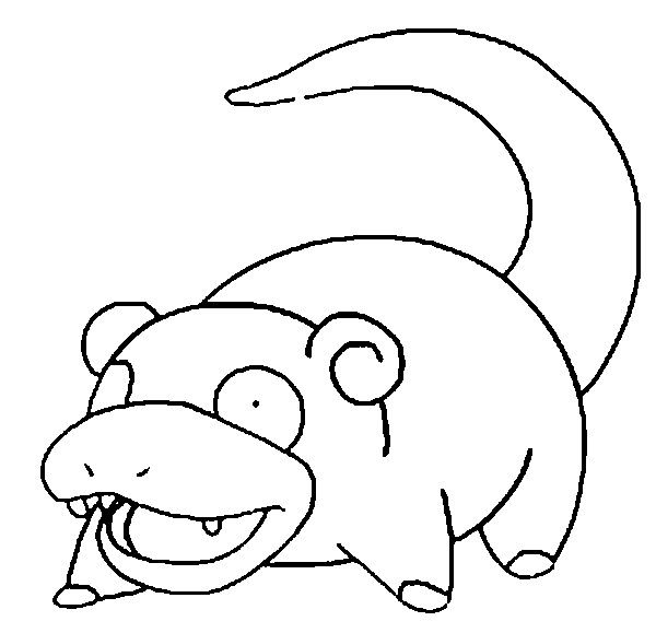 Slowpoke Super Coloring Pages Coloring Pages Pokemon Coloring
