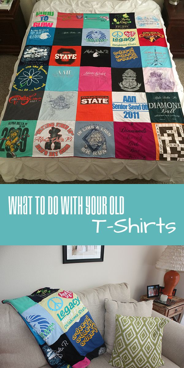 Did you collect a lot of t-shirts from sports teams or greek life in college? Have them made into a t-shirt quilt!
