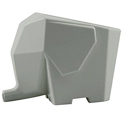 fendii Creative éléphant Égouttoir à couverts de cuisine, de Salle de Bain Maquillage Pinceau Stylo Support Organisateur Boîte de rangement, gris