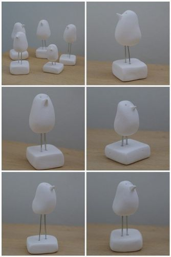 Cute but Simple Clay Birds, awesome idea to try with the kids! I wonder if they want to paint them, when they are done....