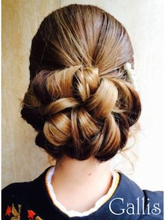 浴衣のロングヘアの髪型 11