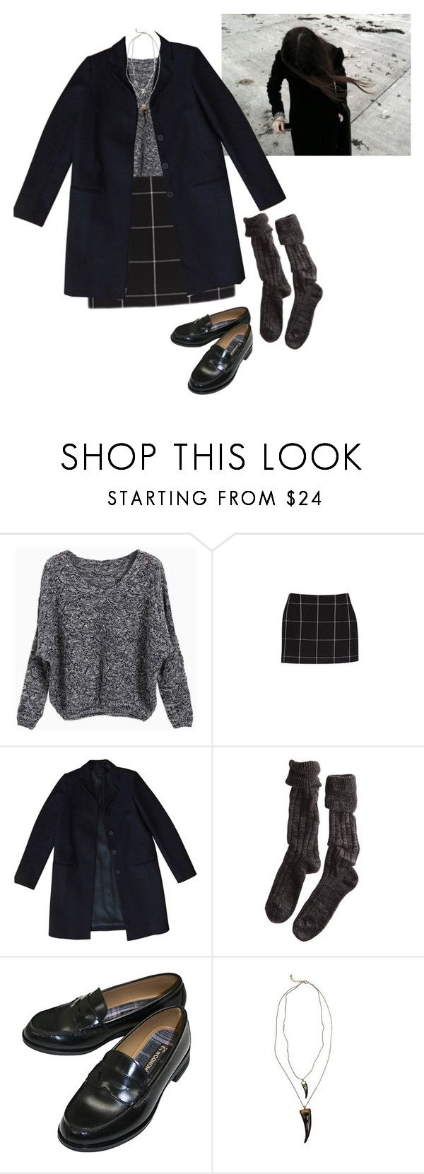 """-i'll try anything once-"" by x-utopia-x ❤ liked on Polyvore featuring COS, Polder, UO, outfit, skirt, loafers, socks and grid"