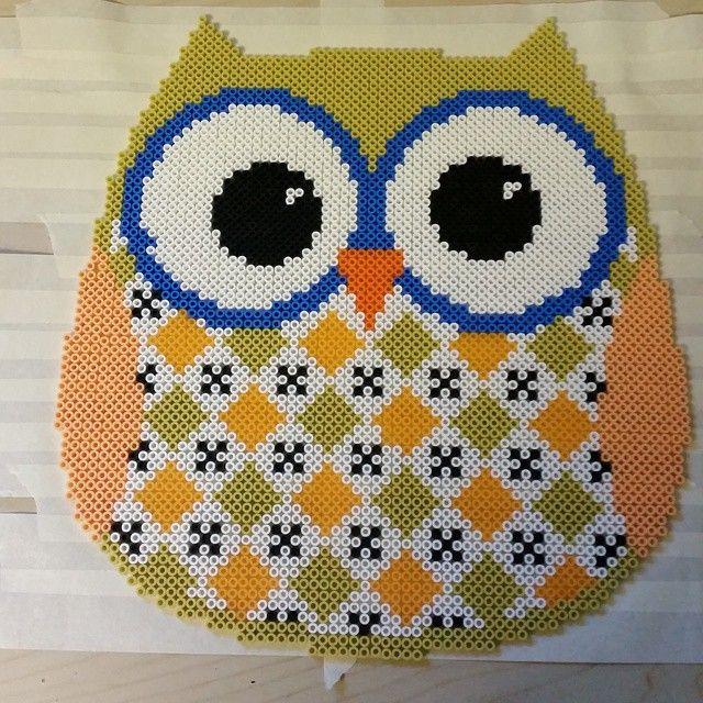 Owl Nabbi perler beads by rantzowperler
