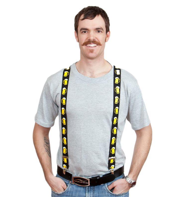 Oktoberfest Costume Suspenders: Mugs