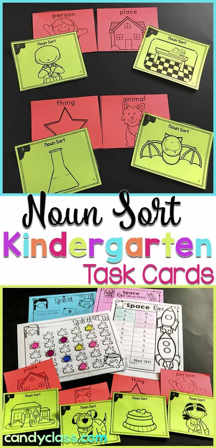 Teach nouns with a hands-on twist. Students sort if the noun is a person, place, thing, or animal. There are optional recording sheets and fun games. Anchor charts can be used to introduce the lesson or printed small for student reference. This is geared for kindergarten, but it can be used in a first grade classroom as extra practice or intervention. Includes connecting Common Core standards. This grammar activity can be differentiated in many ways.