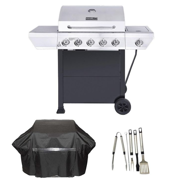 Nexgrill 5burner propane gas grill in stainless steel