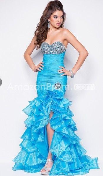 2014 Style Trumpet / Mermaid Sweetheart Beading Sleeveless Asymmetrical Organza Prom Dresses / Evening Dresses