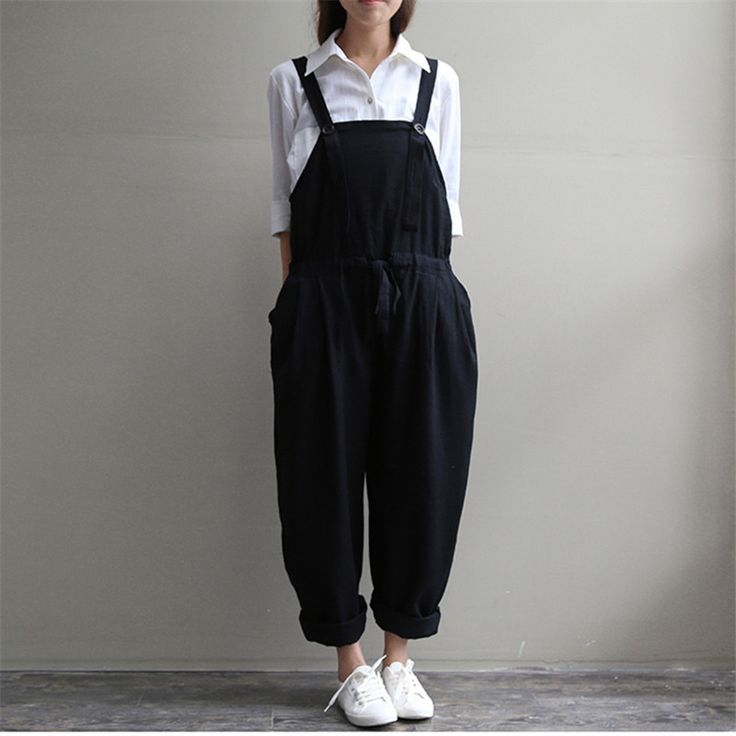 Casual Black Women Linen Rompers Vintage Loose Female Harem Pants New Summer&Spring Slim Lady Full Length Clothing-in Jumpsuits & Rompers from Women's Clothing & Accessories on Aliexpress.com   Alibaba Group