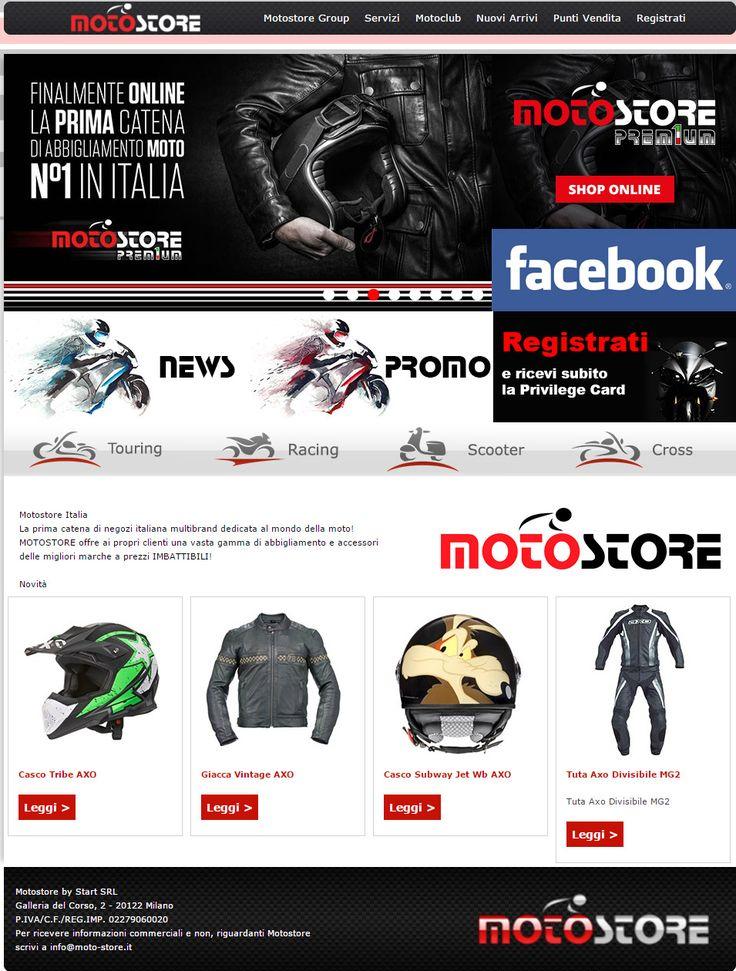 Moto Store la prima catena di abbigliamento e acessori moto. #ecommerce #casco #abbigliamentomoto #giacca #moto  www.start-outlet.it powered by www.b4web.biz
