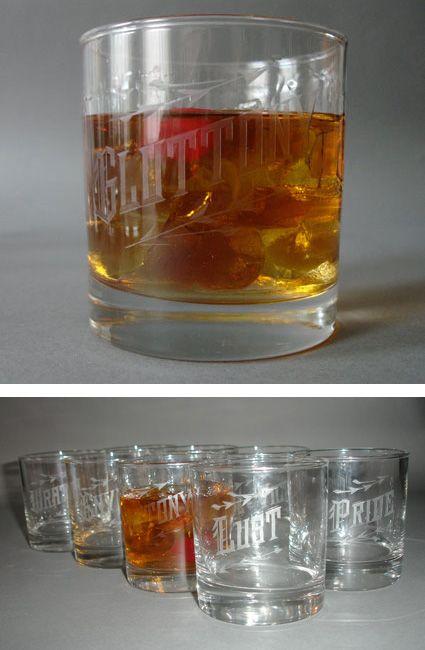 seven deadly sins glassware