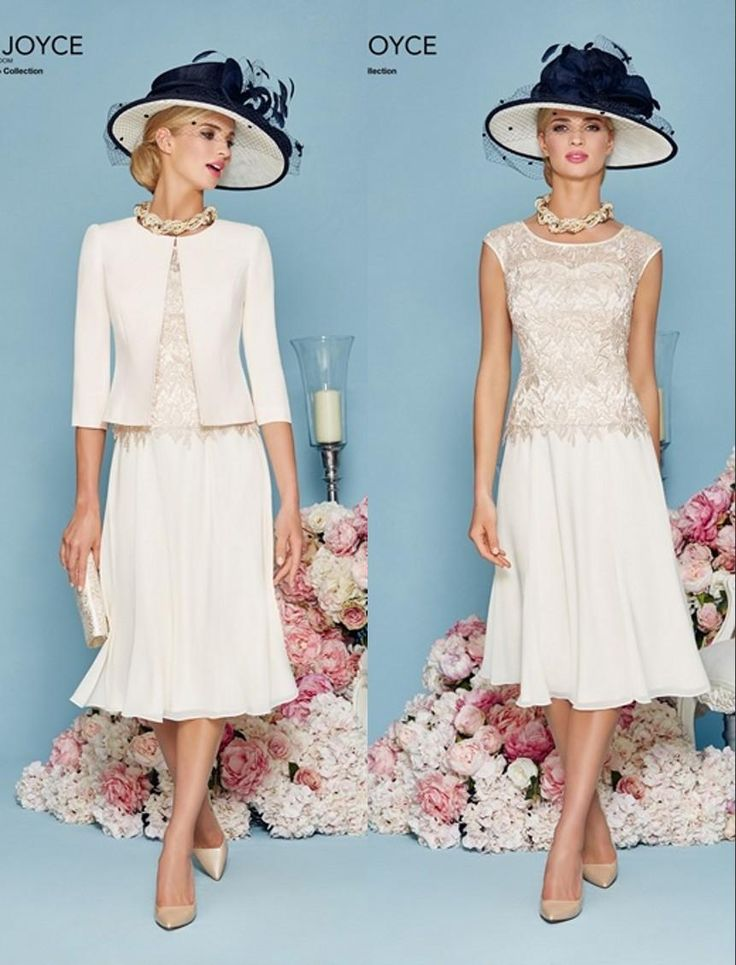 Lace chiffon short a line mother of the bride dresses for Dress and jacket outfits for weddings