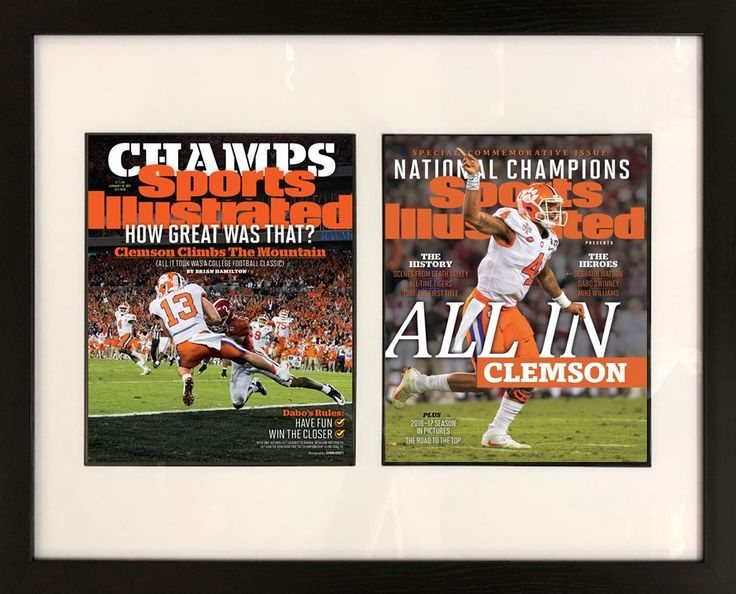2016 Clemson National Championship Sports Illustrated