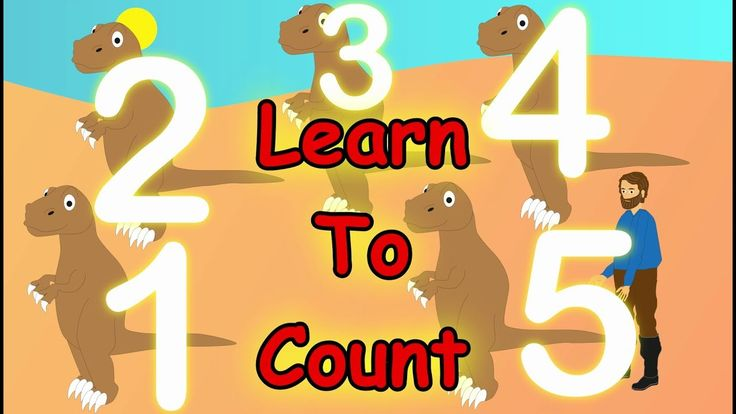 🖐Learn To Count with Number Dino for kids children babies and toddlers - Learning For toddlers