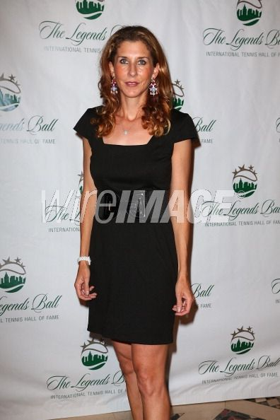Monica Seles attends the 2012...