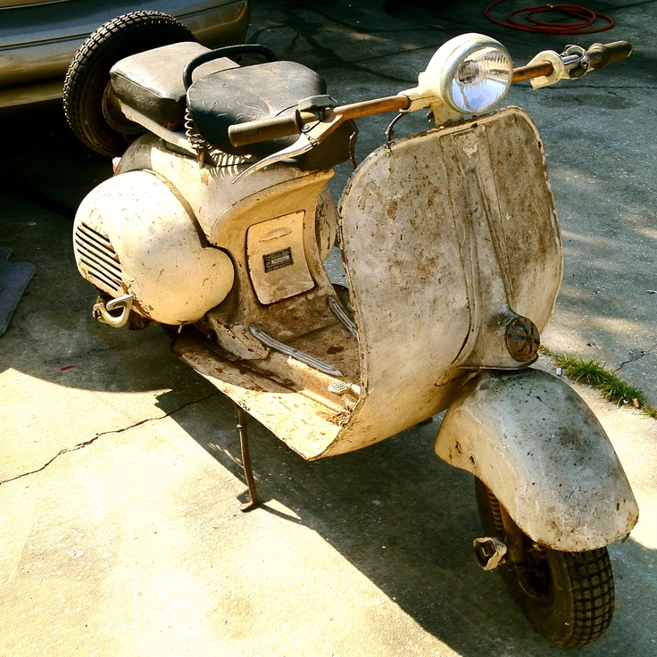 50s Vespa - Has resided in a guy's back yard shed since the 60s.