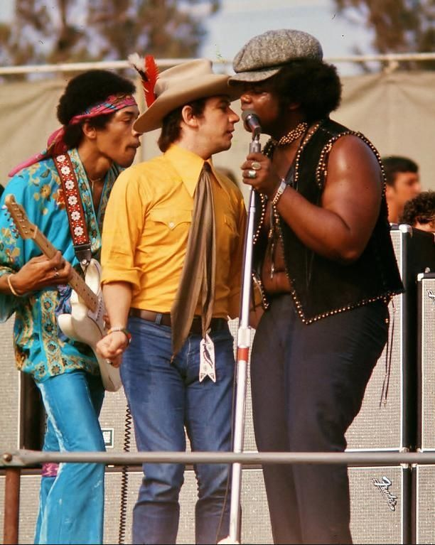 Jimi Hendrix, Eric Burdon & Buddy Miles at NEWPORT 1969