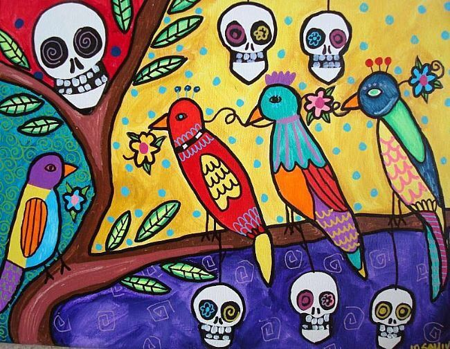 102 best Dia de los muertos art and crafts images on Pinterest | Day ...
