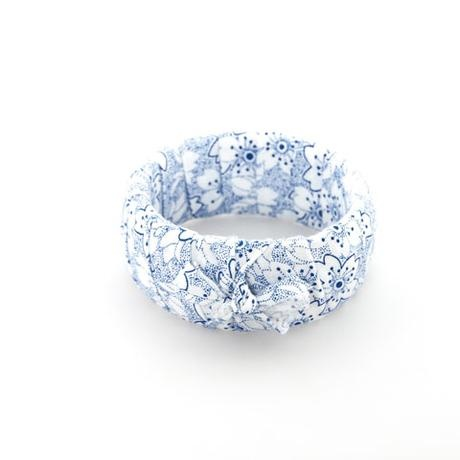 Fabric Bangle blue and white floral - blossomhandmade.co.za