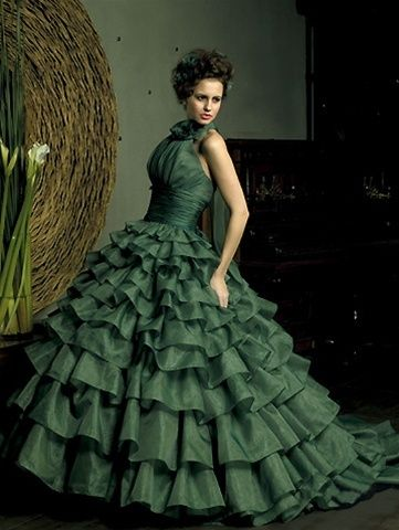 Wedding Dress Fantasy - Green Wedding Dress - Available in Every Color