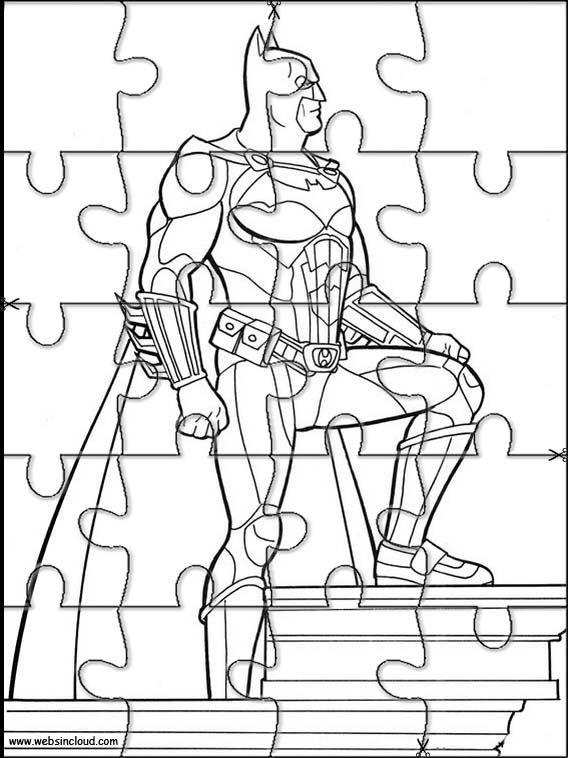 Batman 28 Jigsaw Stampa E Colora Il Puzzle Attività Per Bambini