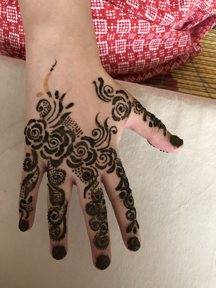 Pin by Sakina Baquir on Mehndi Hand tattoos, Henna hand