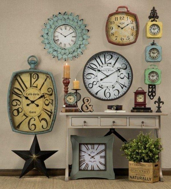 Vintage Tarzı Ev Dekorasyonu: Ahşap Duvar Saatleri: