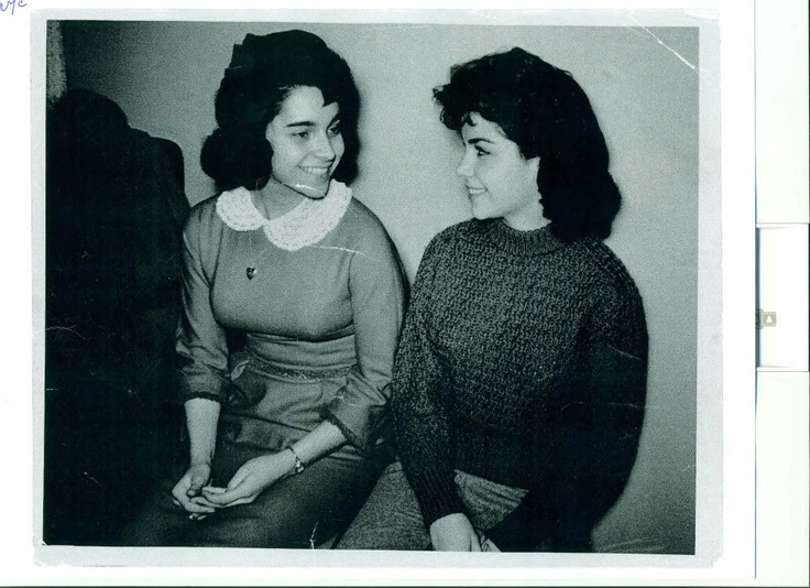 From the 1950's: American Bandstand dancer Arlene Sullivan and Walt Disney princess and star Annette Funicello. Many kids couldn't wait to get home from school every day to watch The Mickey Mouse Club and American Bandstand with Dick Clark.