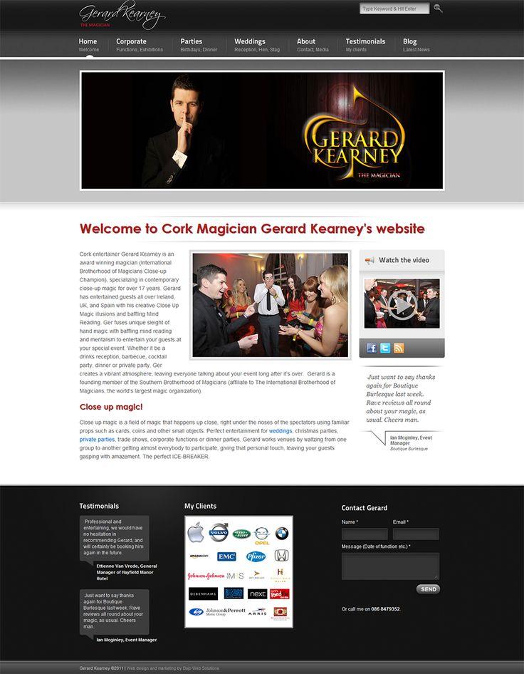 Gerard Kearney The Magician Website