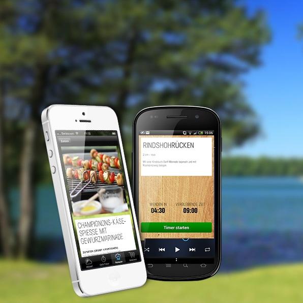 Stations neue Webseite für die Grillsaison inkl. App und Live Wetterhintegrund